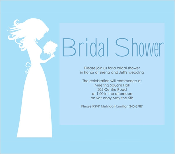 printable bridal shower blue template