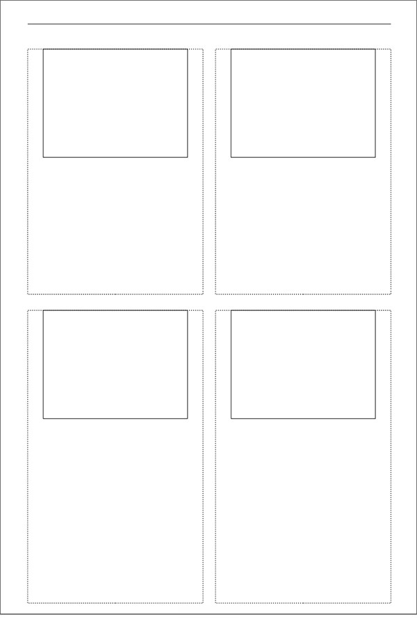 printable storyboard with 2%c3%972 grid