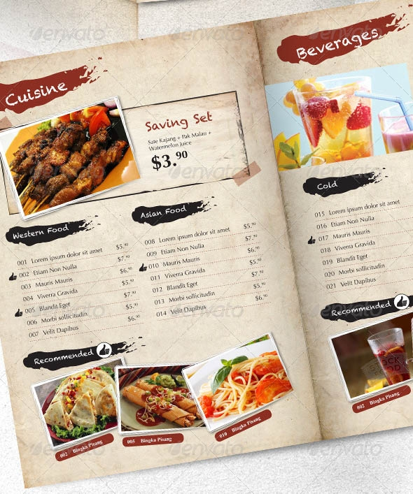 19 beautiful restaurant menu design templates sample templates. Black Bedroom Furniture Sets. Home Design Ideas