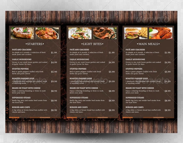 18  restaurant menu design templates