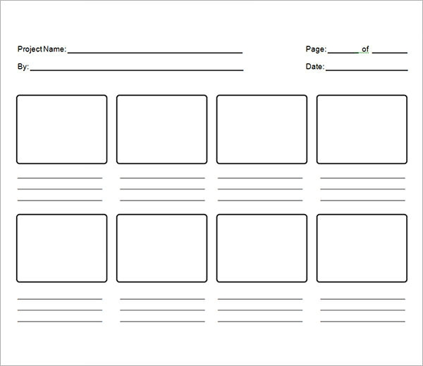 Modest image inside storyboard template printable