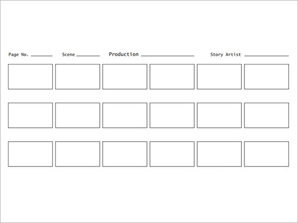 storyboard pdf template