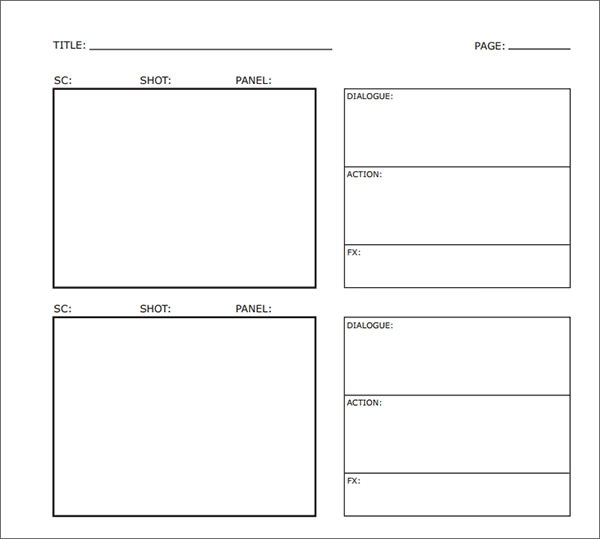 Vertical Storyboard Template