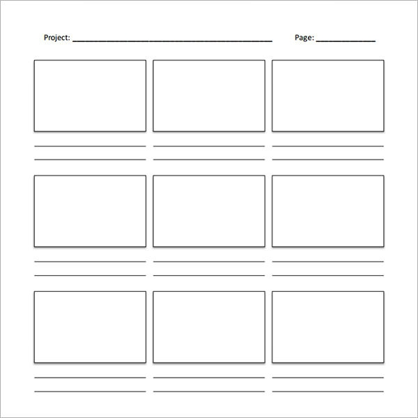 Current image in printable storyboard