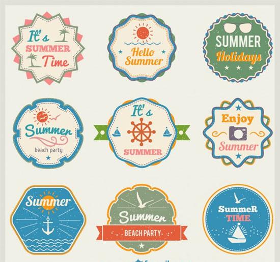 vintage summer time labels