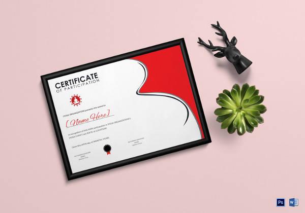 yoga award certificate word