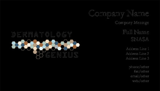 dermotology business card