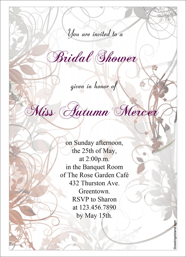 floral bridal shower invitaton