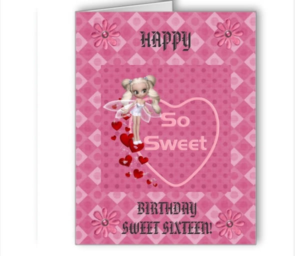 20 beautiful printable greeting card templates sample templates sweet 16 card m4hsunfo