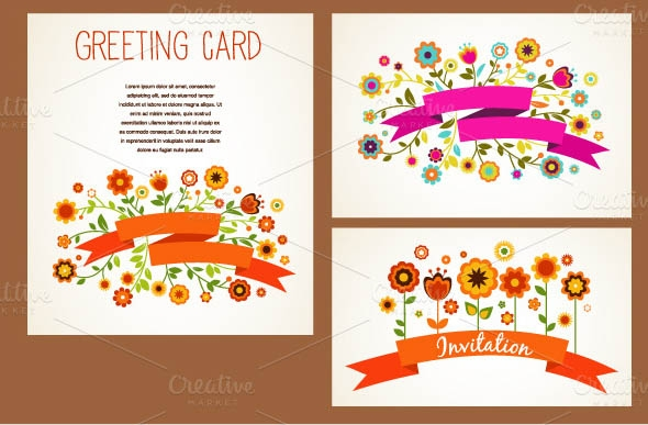 20 beautiful printable greeting card templates sample templates vector greeting cards set m4hsunfo