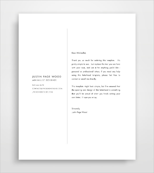 Psd Corporate Letterhead Template 000401: Business Letterhead Template