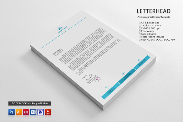 Sample Business Letterhead Template 19 Download in PSD Vector – Business Letter Heading Template