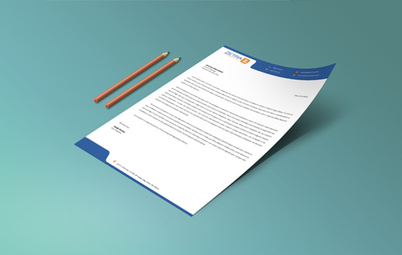 Sample Business Letterhead Template   Download In Psd Vector