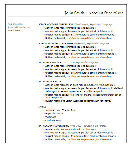 basic account resume template1