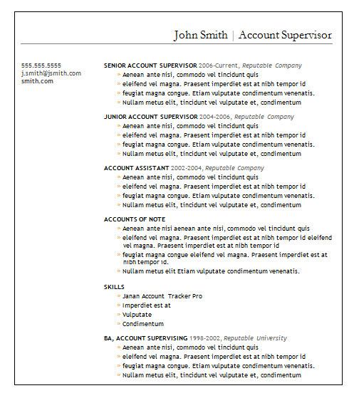 22+ Basic Resume Templates