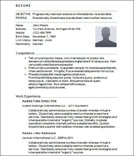 22 Sample Basic Resumes   Sample