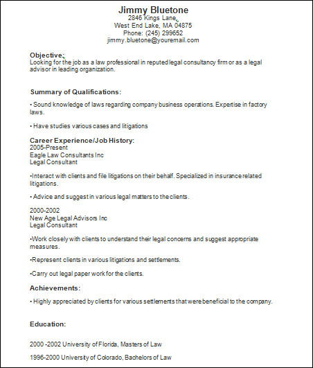 Basic-Legal-Resume-Template