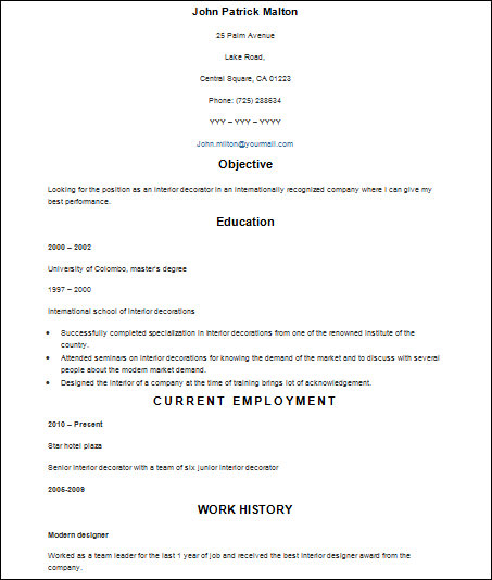 22  sample basic resumes