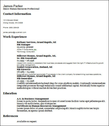 22+ Basic Resume Templates