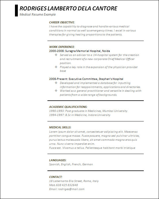 free 18  sample creative resume templates in doc