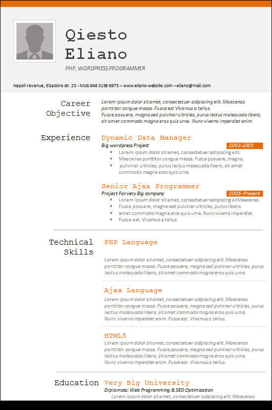 Programming Skills In Resume   Free Resume Example And Writing     Computer programmer resume has some paragraphs that focuses on the project  management  object oriented programming