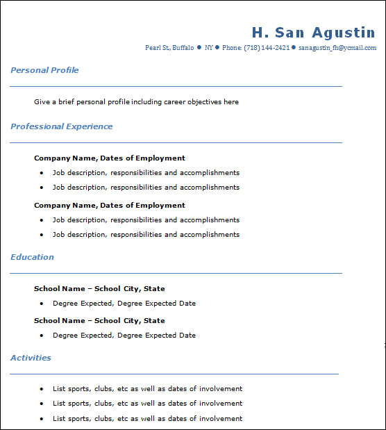 sample data entry resume1