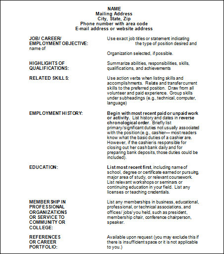 how to list job experience on resume