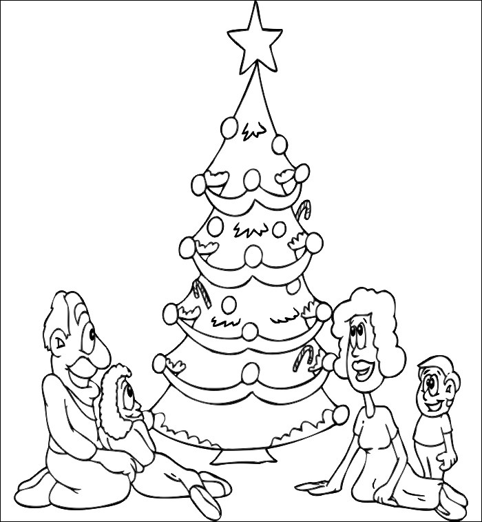 Christmas Tree Template Christmas Tree Coloring