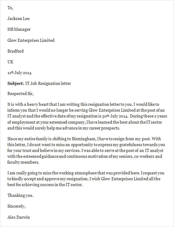 it job resignation letter3