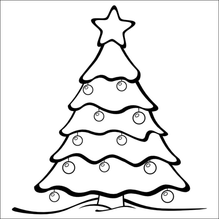 Christmas Tree Template Christmas Tree Drawing