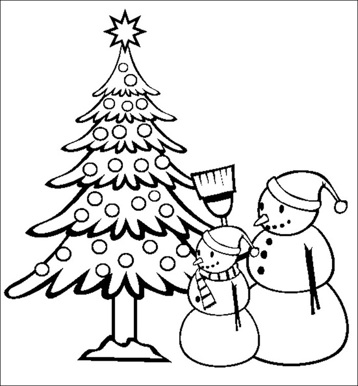 Christmas Tree Template Christmas Tree Coloring Page