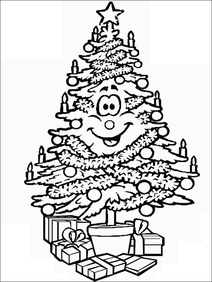 Christmas Tree Template Christmas Tree Coloring Pages