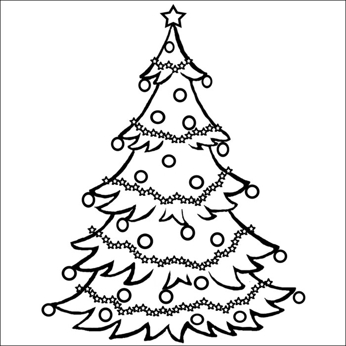 Christmas Tree Template Christmas Coloring Page Tree
