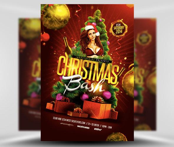 christmas bash flyer template1