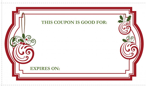 10 Printable Christmas Coupon Templates