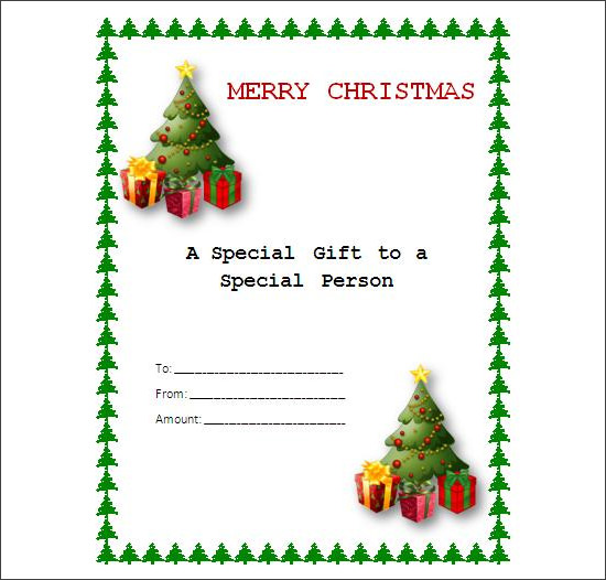 Blank Fill In The Christmas Gift Certificates Pictures to Pin on – Xmas Gift Certificate Template