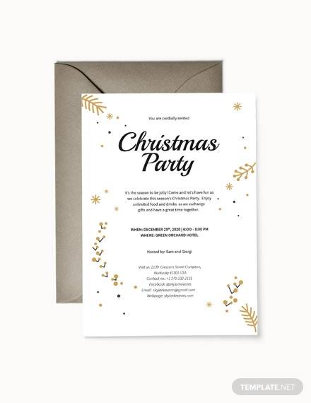 christmas invitation template1