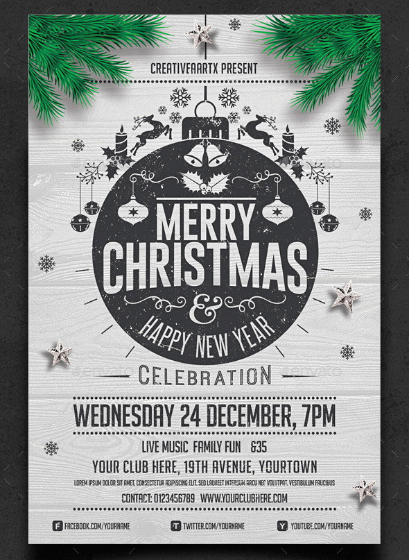 24+ Christmas Flyer Templates - Download Documents in PSD , PDF