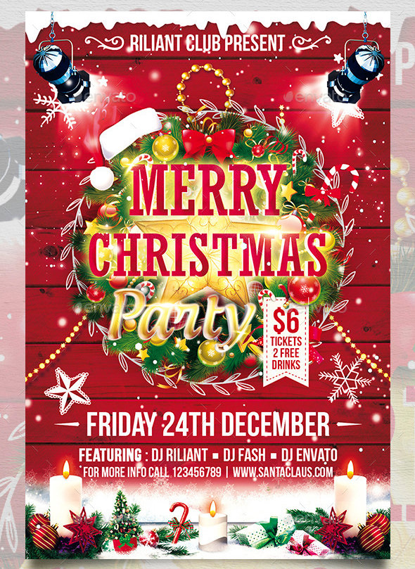 24  christmas flyer templates
