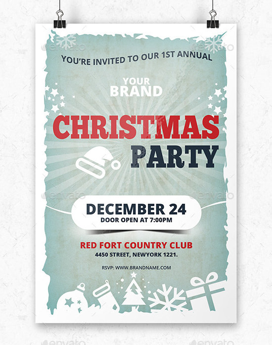 Christmas Invitation Template Download In PSD Vector EPS - Party invitation template: elegant christmas party invitation template