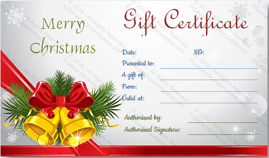 Christmas gift Certificate Templates | Sample Templates