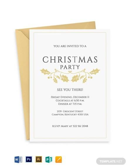 classy christmas invitation flyer template