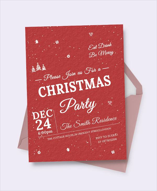 free retro christmas invitation template