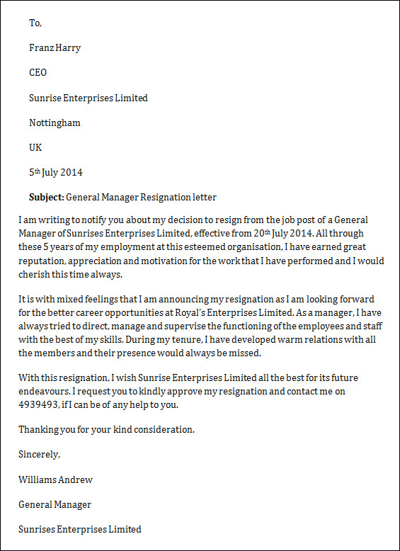 sample job resignation letter 14 free documents in word