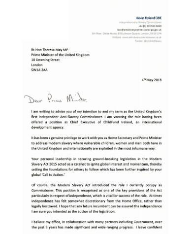 general nursing resignation letter