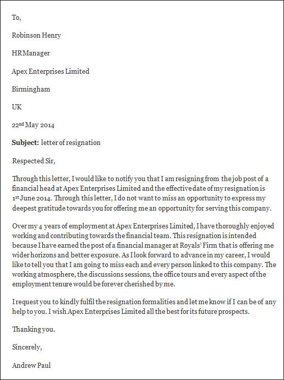 letter of resignation sample  letter of resignation templateletter of resignation sample