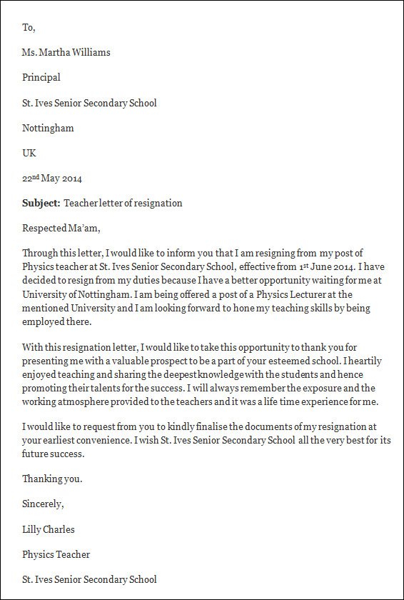 letters of resignation template good professional resignation – Resignation Template Word