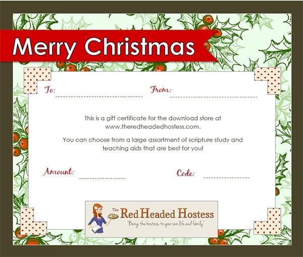 Doc585430 Christmas Gift Certificates Free Christmas Gift – Printable Christmas Gift Certificate