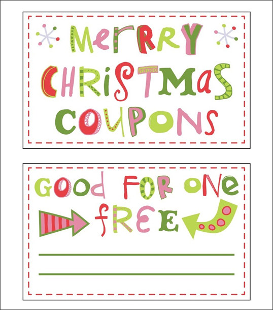 Download Free Printable Christmas Coupon Templates – Independence ...