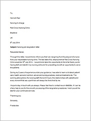 nursing job resignation letter3